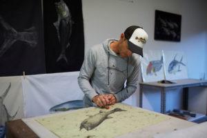 Adam Ashdown, Salty Bones Gyotaku Fish Prints